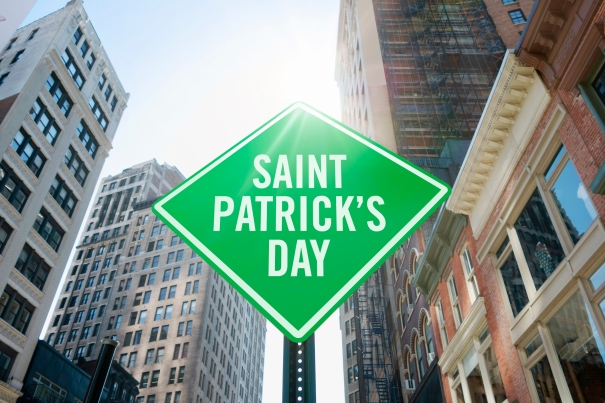 """Saint Patrick's day"" traffic sign"